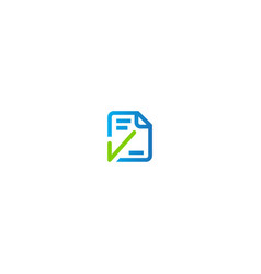 document checklist logo vector image