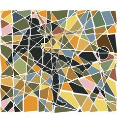 Footballer mosaic vector image