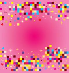 fun pixel squares background design elements vector image