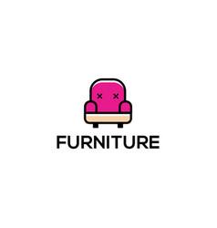 Furniture flat modern logo design - sofa logo vector