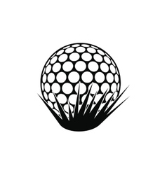 Golf ball on grass icon vector image