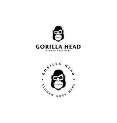 gorilla with circle logo vector image