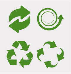 green recycle set vector image vector image