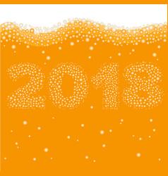 Happy new year 2018 concept vector