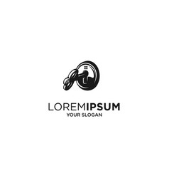 house key silhouette logo vector image