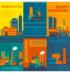 Industry poster set vector