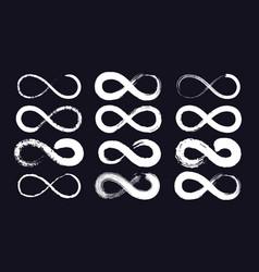 Infinity symbols or eternity loop drawn vector