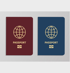 international biometric passport covers template vector image