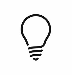light bulb line style icon vector image