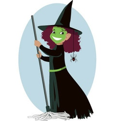 Little Wicked Witch vector image
