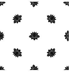 Lotus pattern seamless black vector