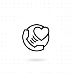 love phone icon vector image