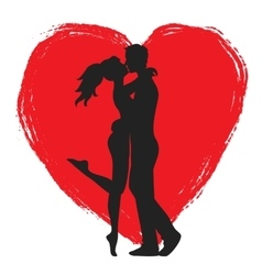 Lovers and heart vector