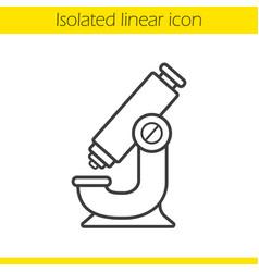 microscope linear icon vector image
