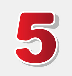 number 5 sign design template element new vector image