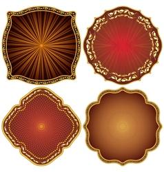 Ornate decorative golden frames vector