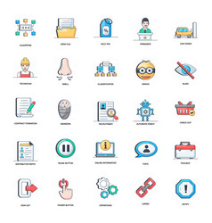 Pack recruitment flat icons vector