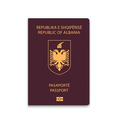 Passport albania vector