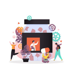 pharmacy concept for web banner website vector image