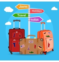Picture of travel bags vector