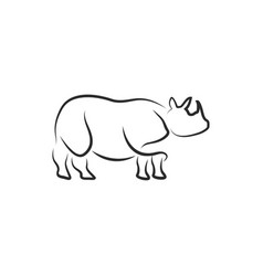 rhinoceros icon design template isolated vector image