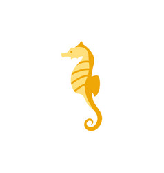seahorse graphic design template isolated vector image