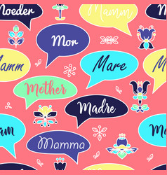 Seamless pattern with speech bubbles and words vector