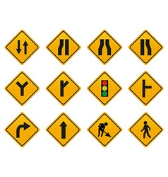 Set of driving signs vector