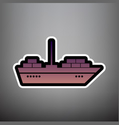 ship sign violet gradient vector image