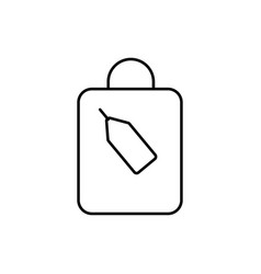 Shoping bag with tag icon vector