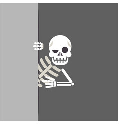 Skeleton cartoon bone support help consultation vector