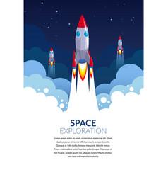 space exploration start-up business rocket vector image