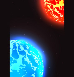 space with stars planet earth vector image