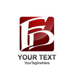 Square letter fd initial alphabet logo design vector