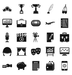 successful business icons set simple style vector image