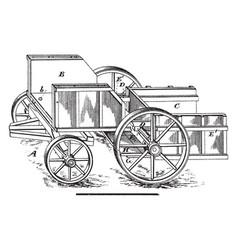 Sugar cane wagon vintage vector