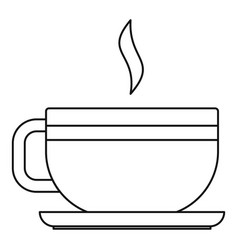 tea cup icon outline style vector image