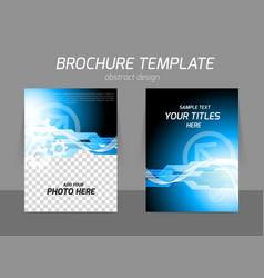 Tech blue flyer design vector image