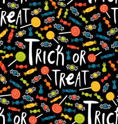 Trick-or-treat pattern vector