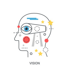 vision concept vector image