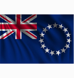 Waving cook island vector