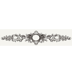 Wide Antique Ornate Frame Engraving vector image