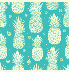 blue green pineapples summer tropical vector image