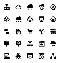Cloud Data Technology Icons 5 vector image vector image