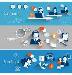 Customer Service Banners vector image vector image