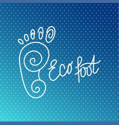 eco foot health center logo orthopedic eco salon vector image vector image