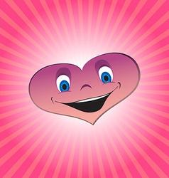 Heart boy character vector image vector image