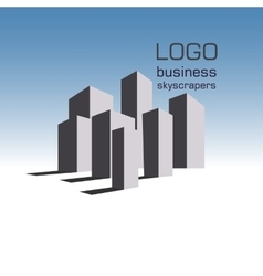 Logo business building vector image vector image