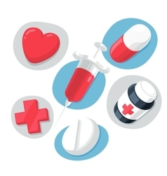 Medical Theme Icons Set vector image vector image
