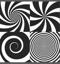 set of psychedelic vector image